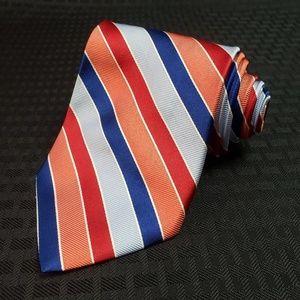 Brooks Brothers Diagonal Striped Silk Necktie Tie